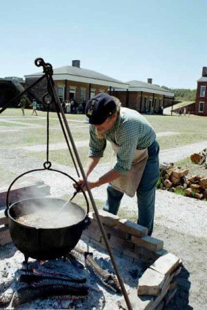 Civil War reenactment at Fort Clinch State Park
