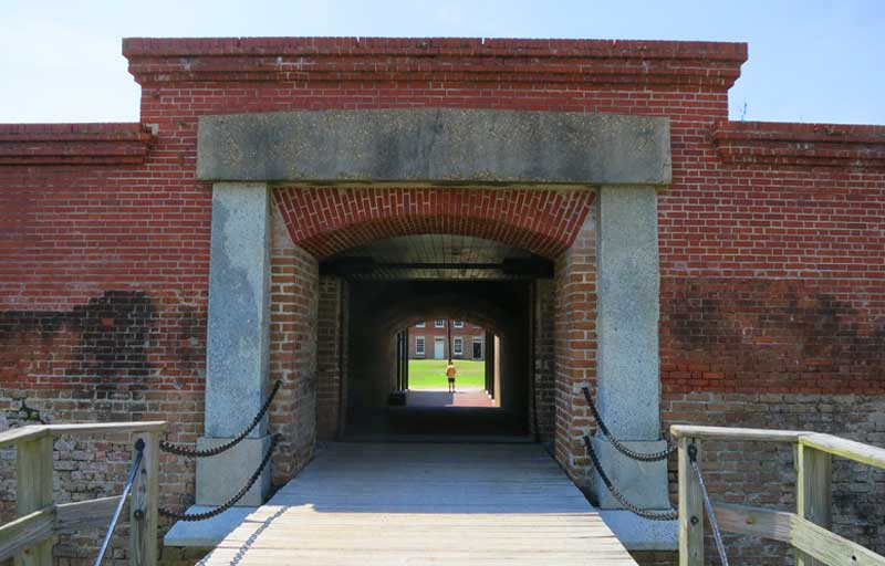 The entrance to Amelia Island's famous fort at Fort Clinch State Park. (Photo: Bonnie Gross)