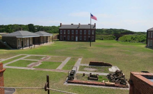 The grounds of the fort at at Fort Clinch State Park on Amelia Island. (Photo: Bonnie Gross)