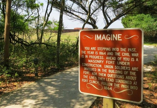As you enter the historic area of Fort Clinch State Park, you are encouraged to leave the current era behind. (Photo: Bonnie Gross)