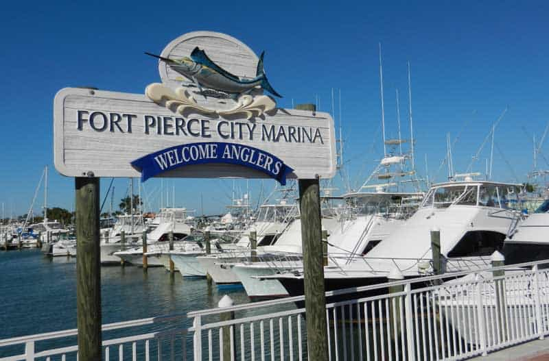 Fort Pierce City Marina, scenic drive along the Indian River Lagoon