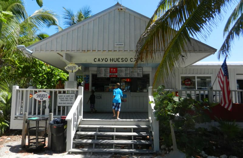 Cayo Hueso Café offers reasonably priced sandwiches, snacks and beverages served on a shaded patio overlooking the beach at Fort Zachary Taylor Historic State Park. (Photo: Bonnie Gross)