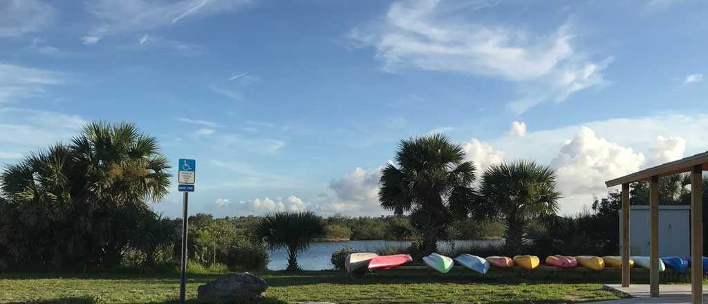 kayak concession at Gamble Rogers State Park