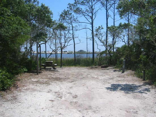 Campsite at Grayton Beach State Park