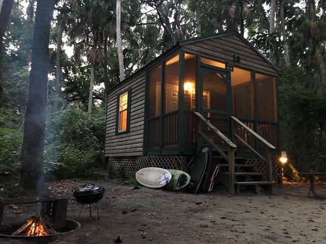 hanna park cabin camping near jacksonville