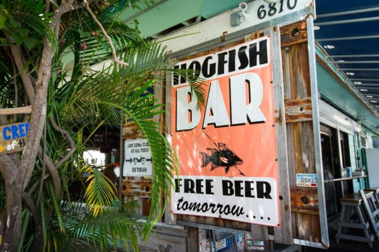 Conch Republic translator: A hogfish is a tasty local fish after which the popular Hogfish Bar and Grill is named. It's located on Stock Island.