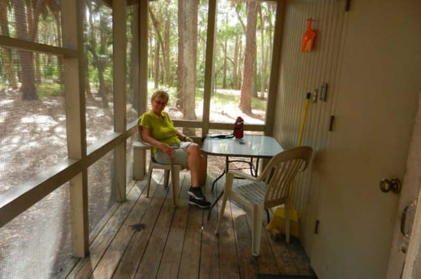 Central Florida cabin rentals: The Hontoon cabins do provide you with a bug-free and dry spot to take respite in the woods. (Photo: David Blasco)