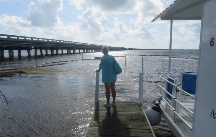 A few of the houseboats have unobstructed views of the bridge to No Name Key and the channel. Others are located in the marina. (Photo: David Blasco)