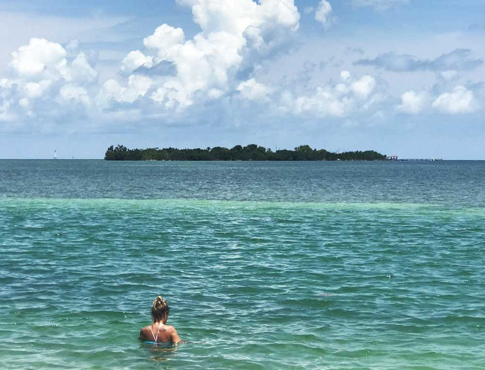 Indian Key Historic State Park as it looks from the Overseas Highway in Islamorada. It makes a great kayak destination. (Photo: Bonnie Gross)