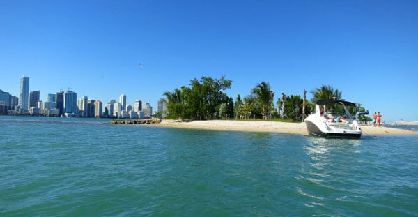 An island just beyond the Miami Marine Stadium basin on Virginia Key is perfect for picnics.