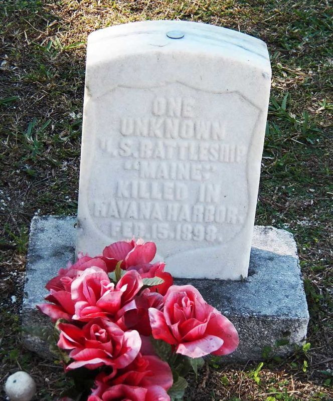 Grave of a sailor who died on the USS Maine at Key West Cemetery. (Photo: Bonnie Gross)