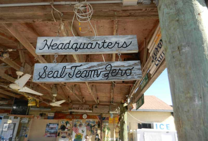 Little Jim's Bait & Tackle memorabilia on scenic drive along the Indian River Lagoon