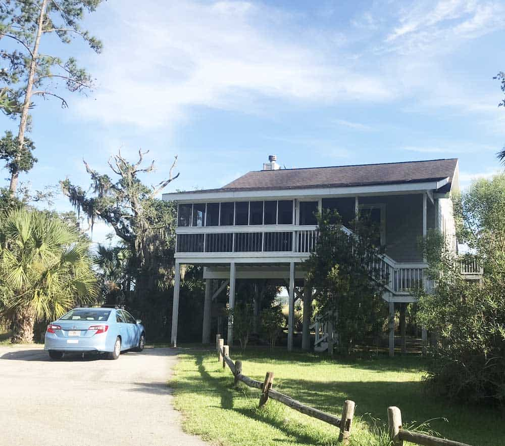 Georgia State Park cabins: This stilt house at Fort McAllister hardly qualifies as a
