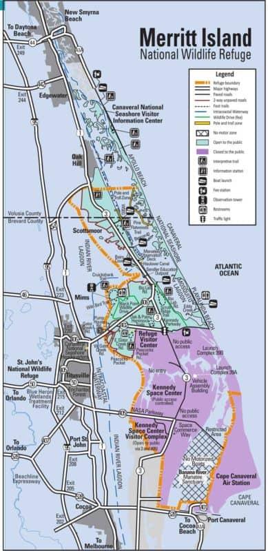 Map of Merritt National Wildlife Refuge