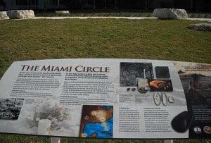 Sign for Miami Circle in Miami Circle Park