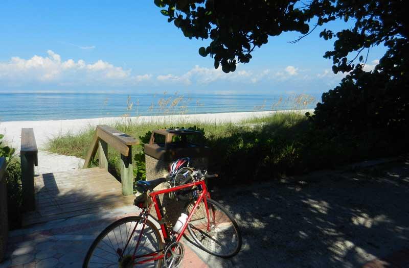 naples bike at beach Biking Naples, Florida: The best way to sample Naples beaches