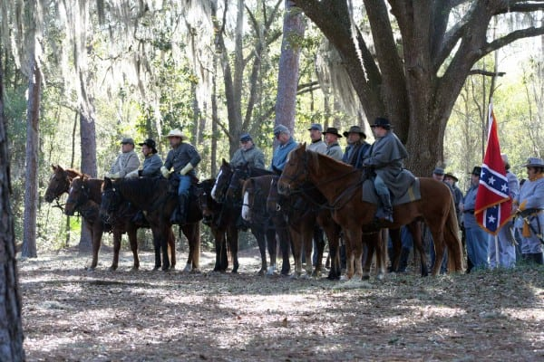 The Battle of Olustee re-enactment includes gun smoke, booming cannons and cavalry at Olustee Battlefield State Historic Park