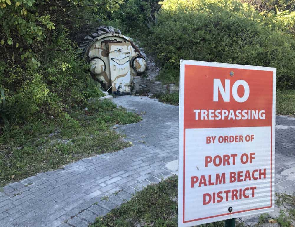 Peanut Island is the site of a Cold War fallout shelter built for President John F. Kennedy. It is no longer open to the public to tour nor is there any signage about it, but it's not difficult to find. (Photo: Bonnie Gross)