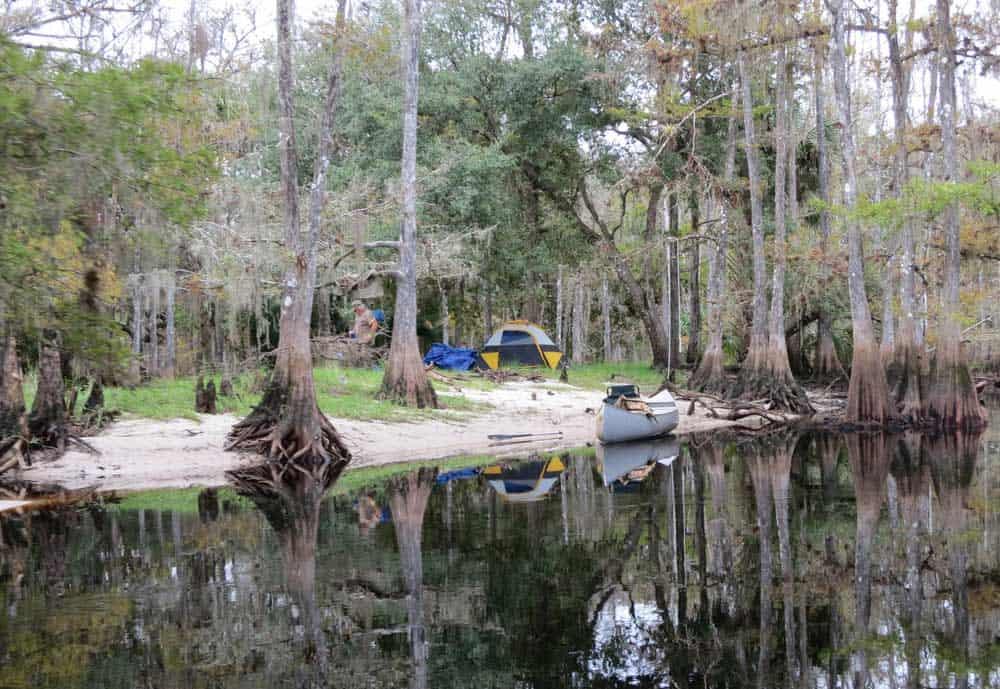 A primitive campsite along Fisheating Creek near Lake Okeechobee. (Photo: Bonnie Gross)