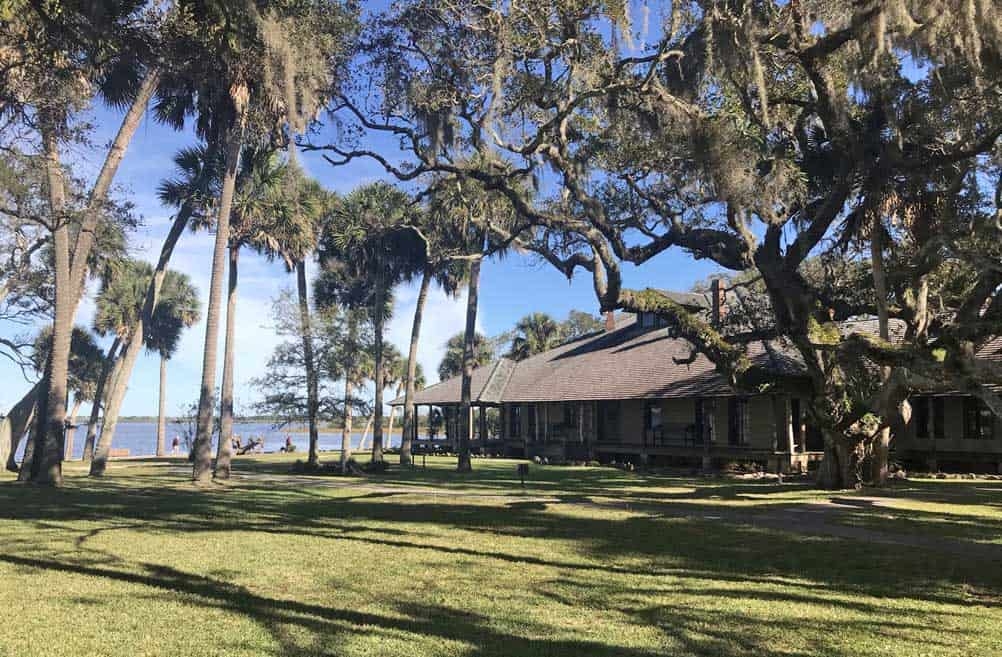 Princess Place Preserve: The historic lodge is surrounded by majestic oaks and overlooks beautiful Pellicer Creek. (Photo: Bonnie Gross)