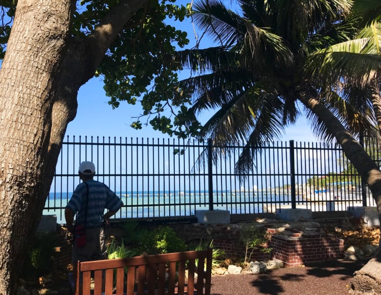Free things to do in Florida: The West Martello garden has beautiful views onto Higgs Beach. It's one of my favorite free things to do in Key West. (Photo: Bonnie Gross)