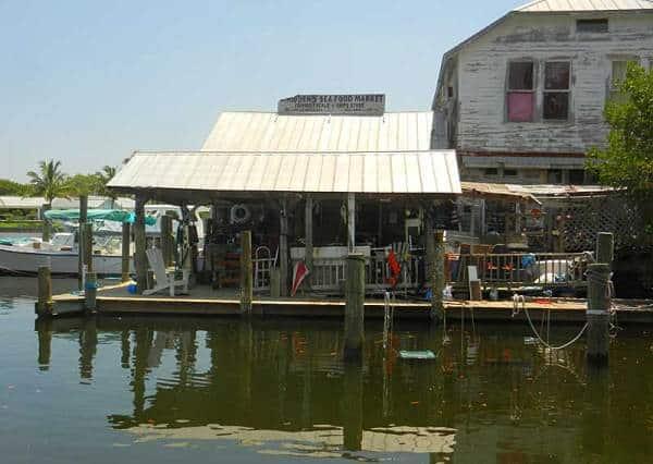 Historic Whiddon's Marina on Boca Grande, a Gulf Coast Florida island.