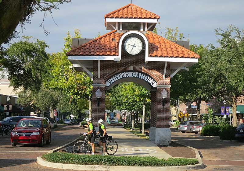 winter garden downtown bicy Winter Garden: Old Florida town thrives around great bike trail