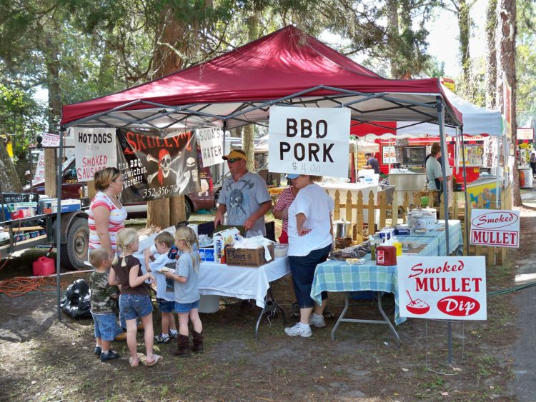 Food booth at Yankee town Seafood Festival
